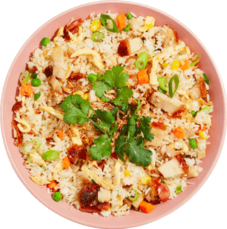 Uncle's Best Fried Rice with Crispy Pork Belly