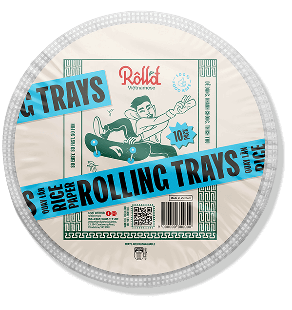 Roll'd Rice Paper Rolling Trays